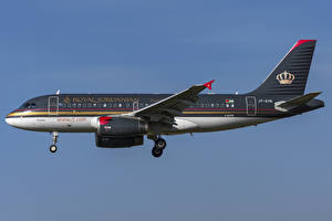 Wallpapers Airplane Passenger Airplanes Airbus Side Royal Jordanian, A319-100 Aviation