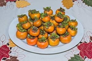 Bilder Kaki Viel Teller das Essen