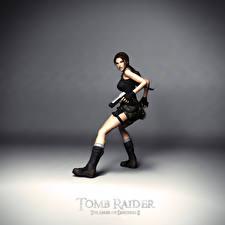 Fotos Tomb Raider Pistolen Tomb Raider The Angel of Darkness Lara Croft computerspiel Mädchens