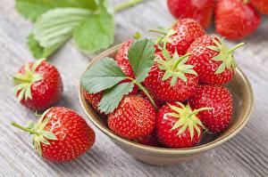 Fotos Erdbeeren Schüssel das Essen