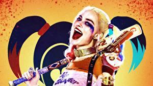 Bilder Suicide Squad 2016 Harley Quinn Held Margot Robbie Baseballschläger Prominente