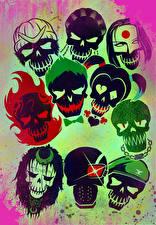 Pictures Suicide Squad 2016 Superheroes Skulls film