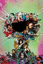 Photo Suicide Squad 2016 Jared Leto Harley Quinn hero Margot Robbie Will Smith Superheroes Deadshot, Captain Boomerang, Rick Flag, El Diablo, Killer Croc, Slipknot, Enchantress, Katana Movies Celebrities