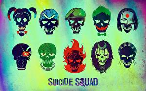 Bilder Suicide Squad 2016 Cranium Logo Emblem Wort Englisch