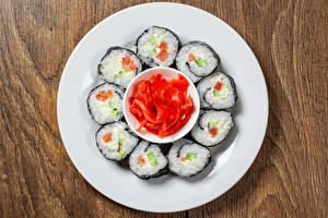 Pictures Sushi Fish - Food Ginger Plate