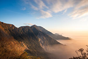 Wallpaper Taiwan Mountains Sky Moss Beidawu National Trail