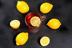 Hintergrundbilder Tee Zitrone Tasse