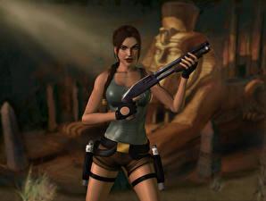 Hintergrundbilder Tomb Raider Tomb Raider Anniversary Lara Croft 3D-Grafik Mädchens