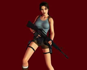 Fotos Tomb Raider Tomb Raider Legend Sturmgewehr Lara Croft Mädchens 3D-Grafik