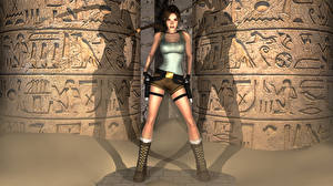 Fotos Tomb Raider Tomb Raider Legend Lara Croft Spiele 3D-Grafik Mädchens