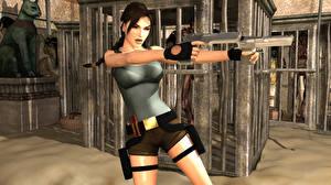Hintergrundbilder Tomb Raider Tomb Raider Legend Pistolen Lara Croft