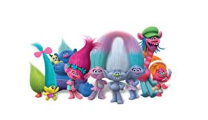 Pictures Troll White background Trolls World Tour (2020) Cartoons