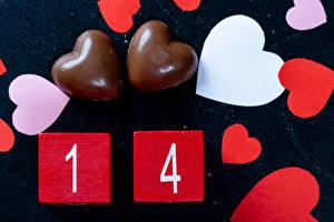 Bilder Valentinstag Bonbon Schokolade Herz das Essen