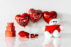 Image Valentine's Day Teddy bear Heart Gifts Toy balloon
