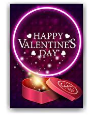 Bilder Valentinstag Vektorgrafik Englischer Wort Herz Geschenke