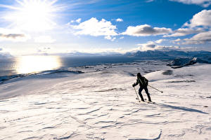 Hintergrundbilder Winter Skisport Schnee Sonne Horizont Wolke
