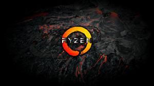 Fondos de Pantalla AMD Logotipo Emblema Ryzen Computadoras imágenes