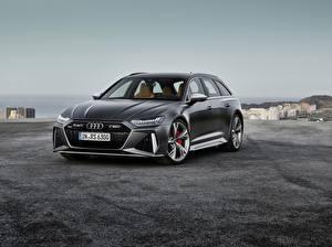 Sfondi Audi Nero Metallizzato Avant, RS6, 2019 Auto immagini