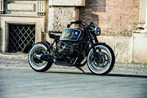 Hintergrundbilder BMW - Motorrad Seitlich Schwarz 2018-20 Ares Design Scrambler Motorrad