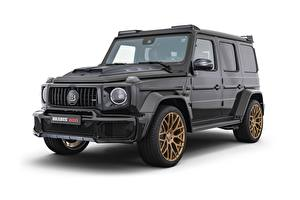Wallpaper Brabus G-Wagen Mercedes-Benz White background Black Crossover G63, 800, W463, 2020 Cars