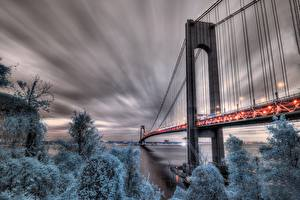 Wallpaper Bridge USA HDRI New York, Fort Wadsworth