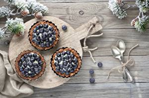 Image Dessert Blueberries Baking Spoon Cutting board