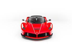 Fotos Ferrari Weißer hintergrund Vorne Rot Metallisch LaFerrari, F70/F150 auto