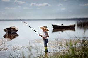 Picture Fishing Fishing rod Boats Boys Hat Valeria Kasperova child