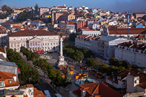 Picture Building Portugal From above Town square Lisbon, Sacramento