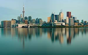 Image Building Toronto Canada Coast Reflected Towers Cities