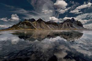 Bilder Island Berg Himmel Bucht Wolke Natur