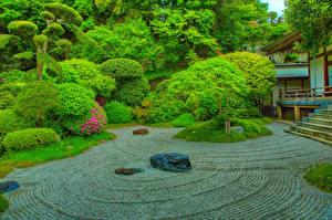 Fotos Japan Parks HDRI Design Strauch Bäume Kamakura Natur