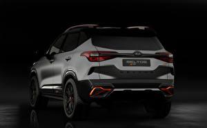 Bilder KIA Hinten Graue Crossover Kia Seltos X-Line Concept 2020 Autos