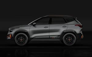 Hintergrundbilder KIA Graue Seitlich Kia Seltos X-Line Concept 2020 auto
