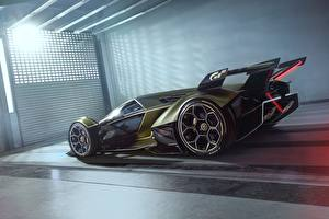 Image Lamborghini Side Vision Gran Turismo 2019 Lambo V12 automobile