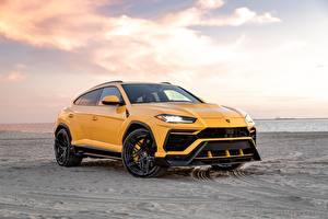 Fotos Lamborghini Sand Gelb Metallisch Softroader Vorsteiner, Urus, 2019 auto