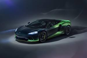 Fonds d'écran McLaren Vert Métallique Phare automobile MSO, 2020, GT, Verdant Theme Voitures