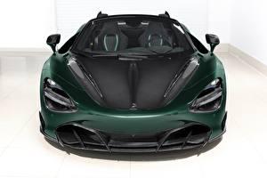 Hintergrundbilder McLaren Vorne Grün Kohlefaser Spider, TopCar, Fury, 2020, 720S automobil