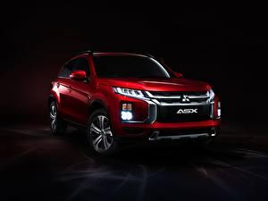 Picture Mitsubishi Red Metallic CUV Headlights ASX, 2019 automobile