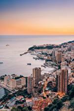 Bilder Monaco Monte-Carlo Haus Küste Von oben Städte