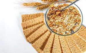 Fotos Müsli Haferbrei Schüssel Crispbread Lebensmittel