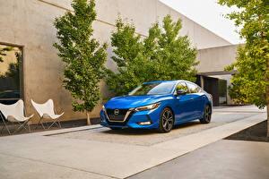 Bilder Nissan Hellblau Metallisch 2020 Sentra SR auto