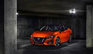 Hintergrundbilder Nissan Orange 2020 Sentra SR automobil