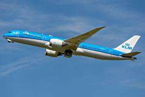 Photo Airplane Passenger Airplanes Boeing Side KLM, AIRFRANCE, 787-9