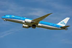 Tapety na pulpit Samolot Samolot pasażerski Boeing Widok z boku KLM, AIRFRANCE, 787-9