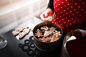 Fotos Backware Kekse Neujahr Hand das Essen