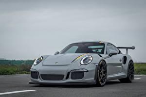 デスクトップの壁紙、、ポルシェ、灰色、メタリック塗、911, GT3、自動車