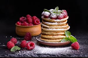 Picture Powdered sugar Berry Raspberry Hotcake Mint