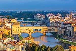 Images River Bridge Building Florence Tuscany Italy Ponte Vecchio Cities