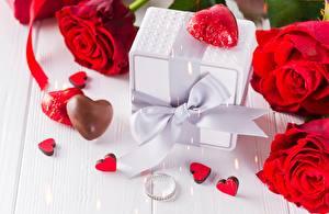 Bilder Rose Valentinstag Schachtel Schleife Herz Blüte